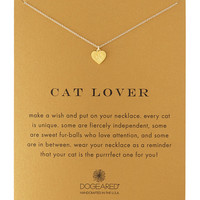 Cat Lover Gold-Dipped Pendant Necklace - Dogeared