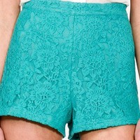 High-Rise Lace Shorts