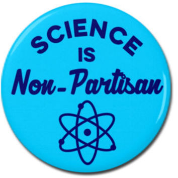 "Science is Non-Partisan Button 1.25"" or 2.25"" Pinback Pin Button Badge Scientist Anti Trump, Pro Science Scientist March"