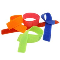 10Pcs/Bag! 180x21mm Colorful Reusable Magic Tape Ties Cord Lead Straps TV Computer Cable Wire Organiser Management Marker HG0136