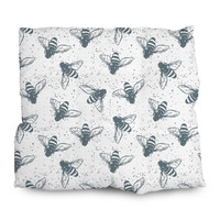 Grunge Bees Outdoor Cushions