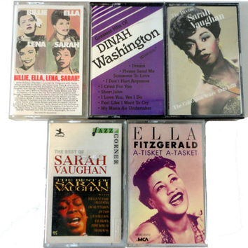 JaZZ DiVA cassette tape LoT vintage music cassettes collection BiLLIE HOLIDaY SaRaH VaUGHaN EllA LeNa DiNAh