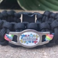 AUTISM AWARENESS SS SHOELACE CHARM PARACORD SURVIVAL BAND