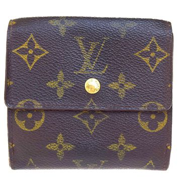 Auth LOUIS VUITTON Elise Trifold Wallet Purse Monogram Leather M61654 BN 03V1905