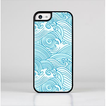 The Seamless Blue Waves Skin-Sert Case for the Apple iPhone 5c