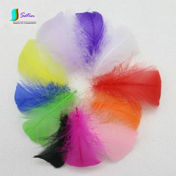 Natural Colourful Small Feather DIY Hair Accessories Wedding Stage Hat Corsage Toy Angel Wings Decoration Materials 4-8cm S0199N