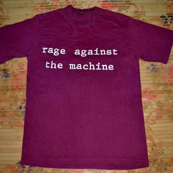Vintage 90s RAGE AGAINST The Machine RATM Molotov T-shirt