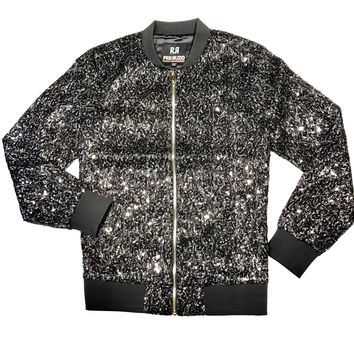 Star Struck Fully Loaded Sequin Bomber Jacket