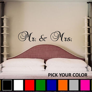 Mr and Mrs. Vinyl Wall Decal