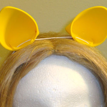 Yellow My Little Pony Rarity Cat Cosplay Ears
