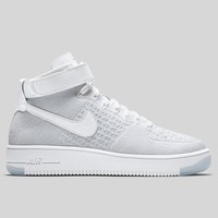 AUGUAU Nike Wmns Air Force 1 Flyknit Triple White