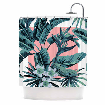 "Kess Original ""Monstera"" Nature Pop Art Shower Curtain"
