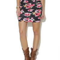 Red Floral Bodycon Skirt | Shop Bottoms at Wet Seal