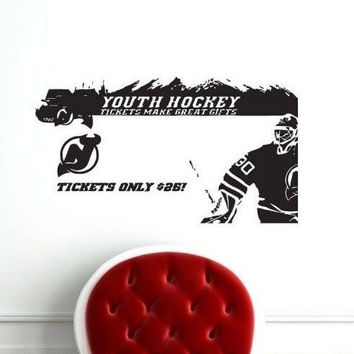 Wall Decal NHL New Jersey Devils Martin Brodeur 30 Goalkeeper Gm1577 FRST