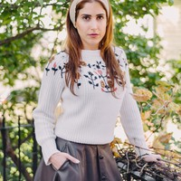 Emy Floral Embroidered Sweater