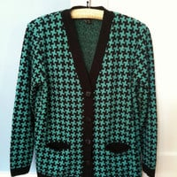Authentic Vintage Houndstooth Cardigan