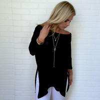 Latching Onto You Tunic Blouse In Black
