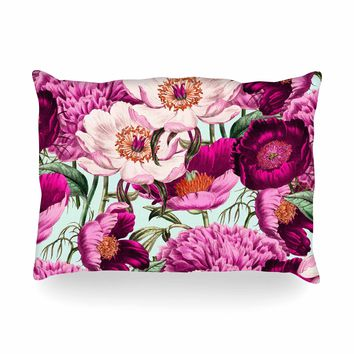 "83 Oranges ""Pink Velvet"" Pink Purple Nature Pattern Mixed Media Illustration Oblong Pillow"