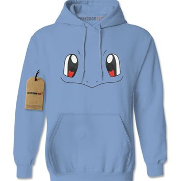 Squirtle Blue Pokemon Funny Face Adult Hoodie Sweatshirt