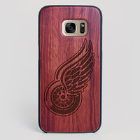Detroit Red Wings Galaxy S7 Edge Case - All Wood Everything