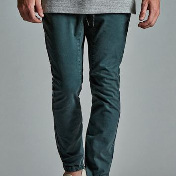 Bullhead Denim Co. Forest Zips Slouched Skinny Jogger Pants - Mens Pants