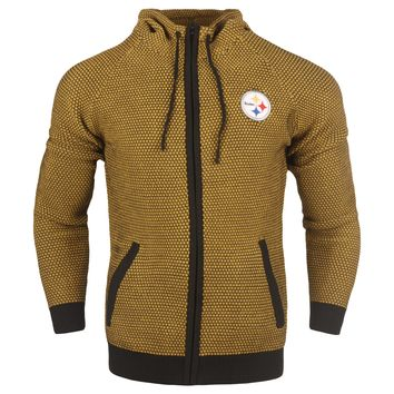 Pittsburgh Steelers Official NFL Poly Knit Full Zip Hoody - Mens