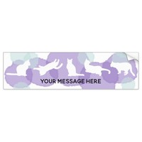 Cats Blue Violet Watercolor Effect Abstract Modern Bumper Sticker