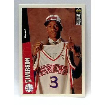 1996-97 Collector's Choice Allen Iverson ROOKIE CARD, #301, Sixers