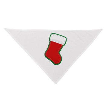 Cute Faux Applique Christmas Stocking Dog Bandana 26