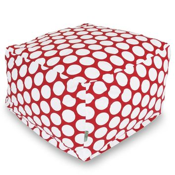 Red Hot Large Polka Dot Large Ottoman