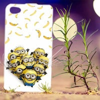 minion catch banana despicable me movie - Photo Print for iPhone 4/4s, iPhone 5/5s/5C, Samsung S3 i9300, Samsung S4 i9500 Hard Case