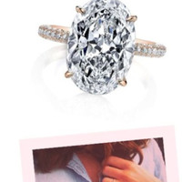 3.85ct J-SI1 Oval Diamond Engagement Ring Fine Jewelry 900,000 GIA certified diamonds JEWELFORME BLUE Blake Lively