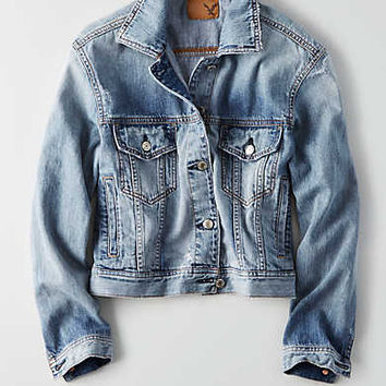 AEO Classic Denim Jacket , Light Wash