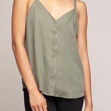 Jada Tencel Tank in Olive