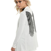 White Angel Wing Girls Cardigan