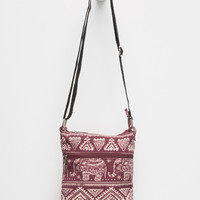 Elephant Crossbody Bag Burgundy One Size For Women 25120732001