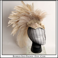 Milky Bones.... Feather Headdress with Skulls