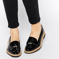KG by Kurt Geiger Lucien Black Tassel Loafer Flat Shoes