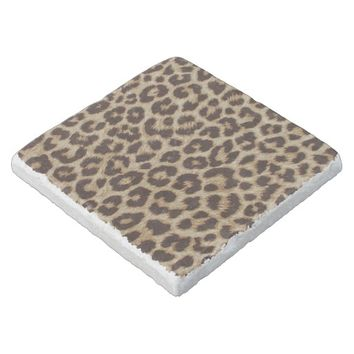 Leopard Print Marble Stone Coaster