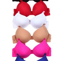 Rounded Lace Design 6 Pack Bra