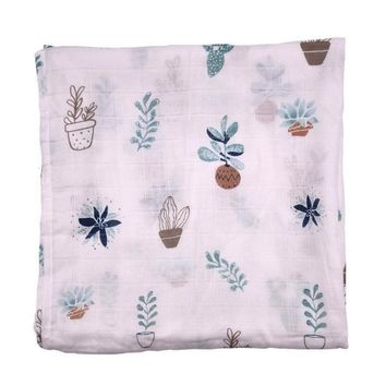 Muslin Swaddle, Sweet Succulents