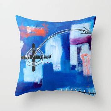 Idealism Under Construction Throw Pillow by EXIST NYC