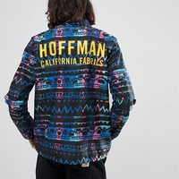 Herschel Supply Co Hoffman Collab Voyage Coach Jacket with Back Print in Aztec Print at asos.com