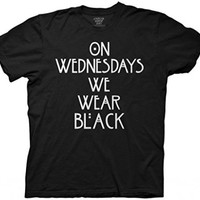 American Horror Story: Coven On Wednesdays We Wear Black T-Shirt Size : X-Large
