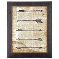 Hipster Arrows Framed Wall Art | Shop Hobby Lobby