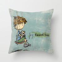 Joy Found Him - Childrens Art Throw Pillow by Even In Death