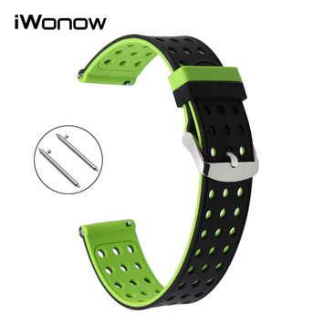 Quick Release Silicone Rubber Watchband for Diesel DZ Fossil Men Women Watch Band Wrist Strap 18mm 19mm 20mm 21mm 22mm 23mm 24mm