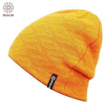ac NOOW2 2017 Sports Winter Hat Skating cap Hats For Woman & Man Thicken Warm Cap Casual Knit Beanies