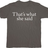 The Office That's What She Said Text Charcoal T-shirt