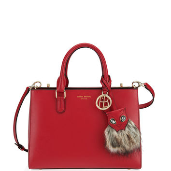 West 57th Cat Small Turnlock Satchel